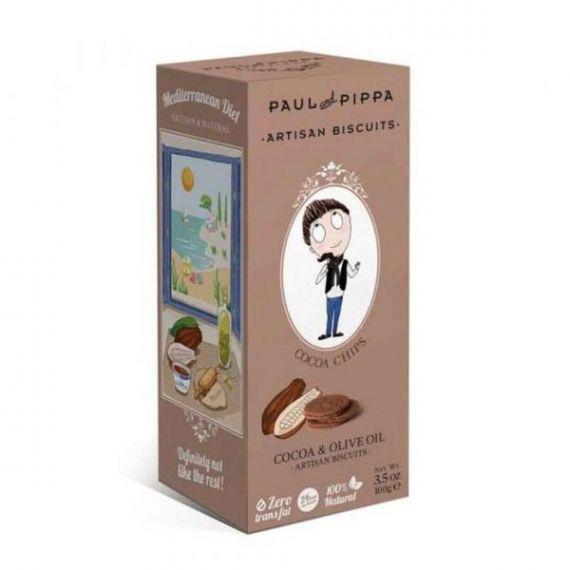 Galletas de Cacao y Escamas de Sal 130gr. Paul & Pippa. 6 Unidades