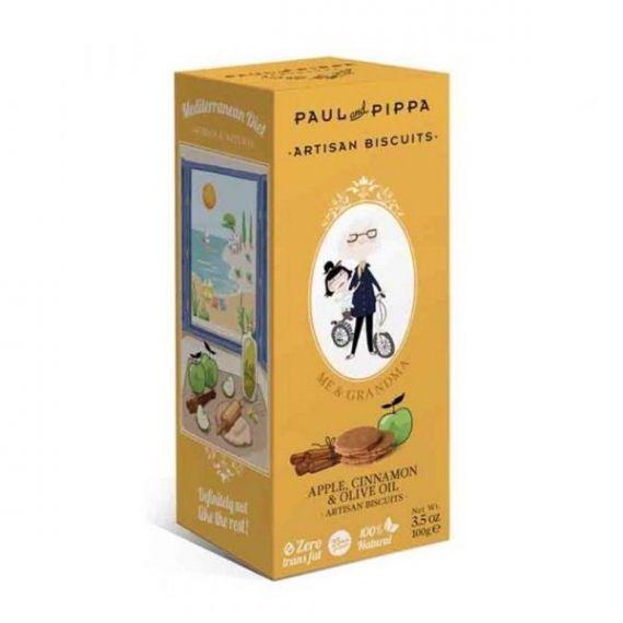 Galletas de Manzana y Canela 100gr. Paul & Pippa. 6 Unidades