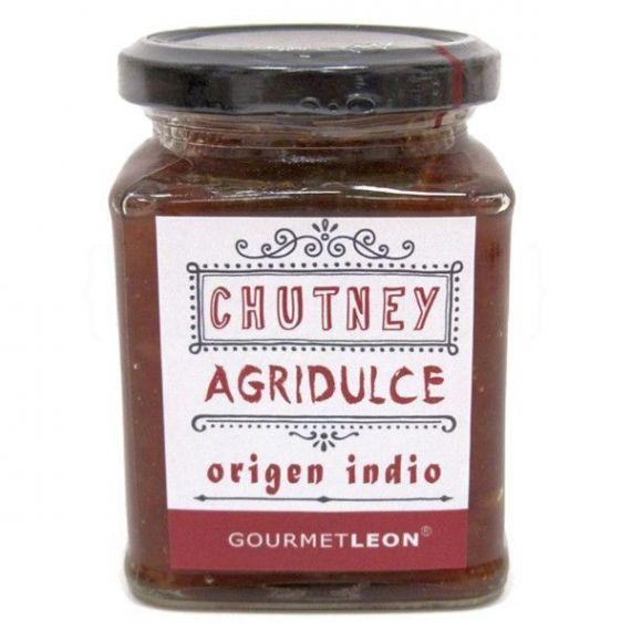 Chutney agridulce 250gr. Gourmet Leon. 12 Unidades