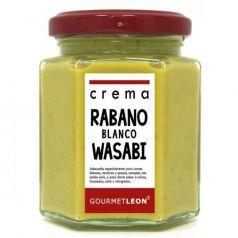Crema de Rábano blanco con Wasabi 160ml. Gourmet Leon. 12 Unidades